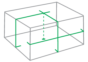 Illustration of lines and dots projected by General XL1G.