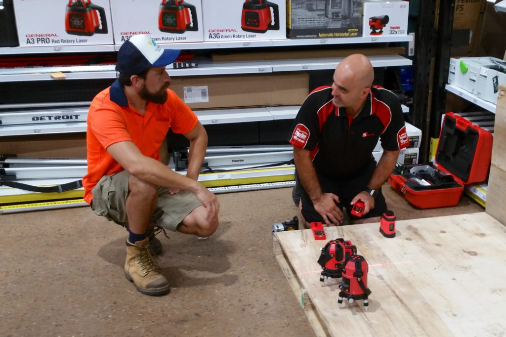 Laser Level Training at Total Tools Darwin – Spot-on Lasers
